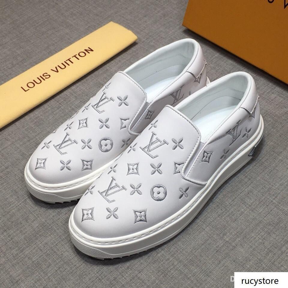 iduzi Designer Schuhe Python echtes Leder Herrenschuhe Ace echtes Leder-flache Art und Weise Luxus beiläufige Turnschuh-Schuhe Männer Größe 38-44
