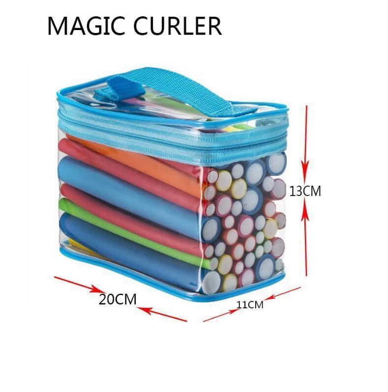 Saç Köpüğü Curls için de Moda Bendy Silindirler Flexi Çubukları 42pcs / Seti DIY kıvırma çubuklar 7 stilleri Sihirli Saç Silindirler yumuşak Flex çubuklar