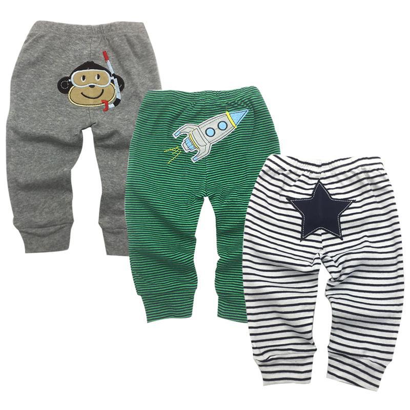 Calças do bebê Recém-nascidos Bebês Meninos Meninas Infantis Calças Roupa Bebe 3 Pacote 3 6 9 12 18 24 Meses Calças Crianças Roupas Y19061303