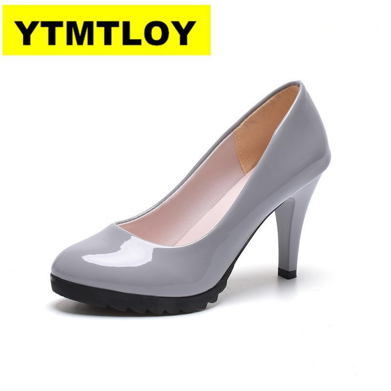 2019 Femmes Pompes Printemps / Automne Talons Hauts Bout Pointu Chaussures De Mariage Des Femmes Sexy Chaussures À Talons Hauts pour les femmes 10 cm