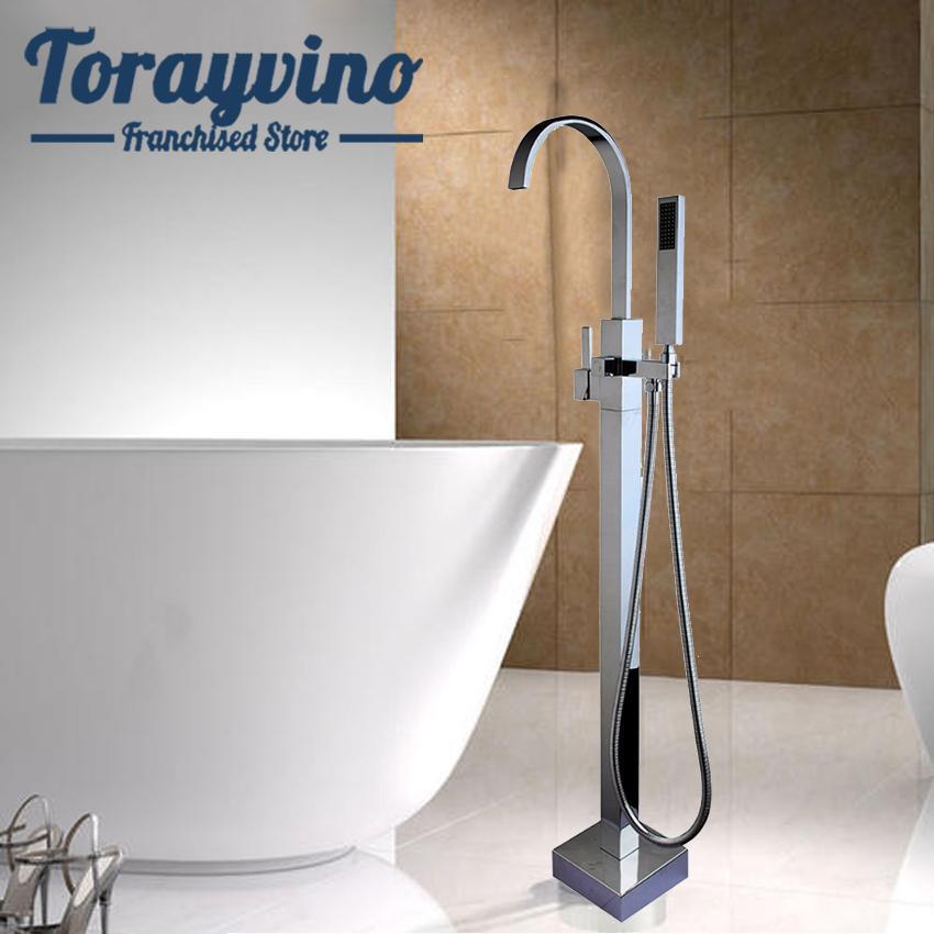 Banyo Zemin Standı Küvet Bataryası dokunun El Sprey Mikser Set ile Krom Banyo Duş Tek Kolu Duş Cilalı Monteli