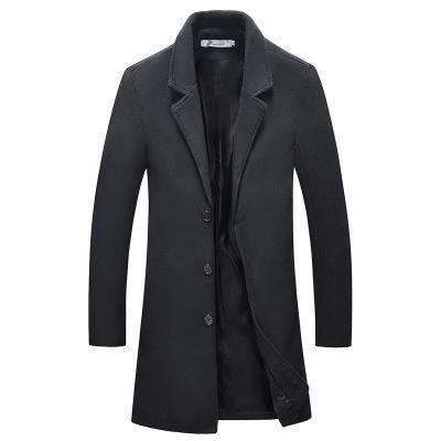 Neuen männer stilvolle wolle langen mantel männer herbst winter warm casual solide schlank business mantel wolljacke parka männlichen mäntel