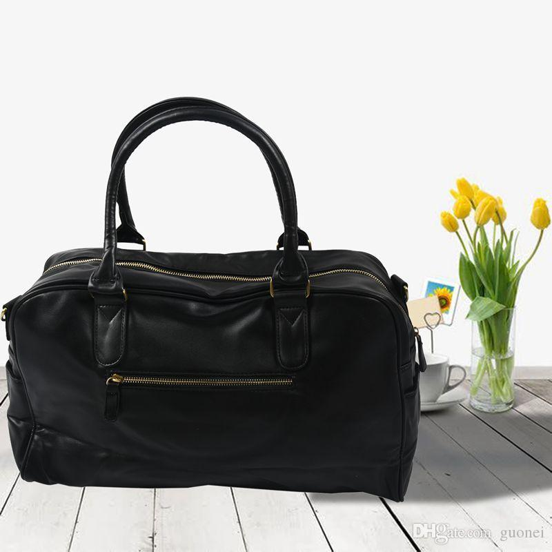 Designer-Men Shoulder Bag Duffle Satchel viagem Crossbody Messenger Bag PU Leather