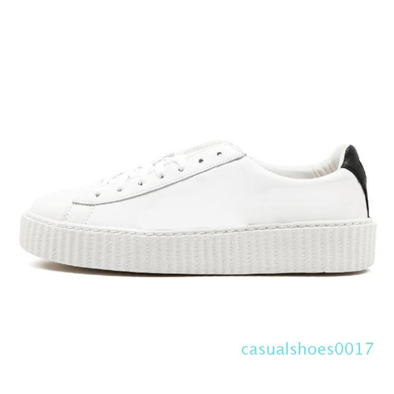 2019s Fenty Creeper Rihanna Women Basket Platform Casual Shoes Velvet Cracked Leather Suede Mens Black White Red Green Casual Sneakers c17