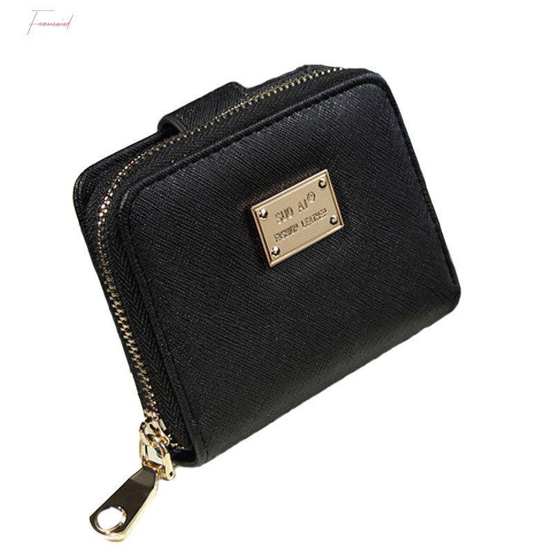 Neue Kurzkarte Leder Clutch Bag Mujer Carteras Mode Marke Halter 2020 Für Frauen Solide Farbe Brieftasche Kleine Frauen Lady CLJSL