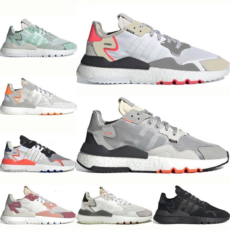 Top Men Nite Jogger Chaussures de course Mode Femmes 3M Popcorn Triple noir sport blanc Chaussures Mode marche Hommes extérieur Chaussures de sport