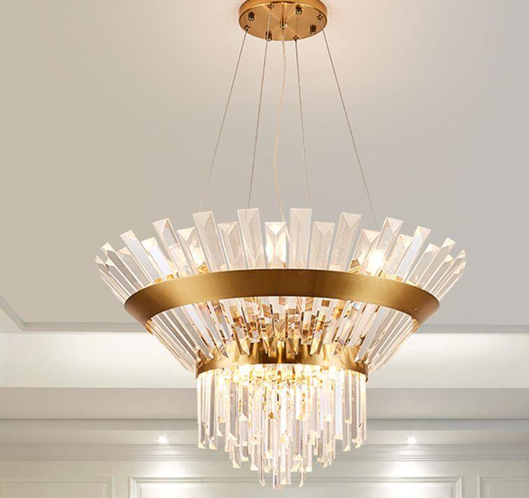 ronda lámpara de cristal de araña de la sala de estar restaurante de lujo nuevo diseñador de la lámpara villa creativa personalidad nórdica lámparas MYY