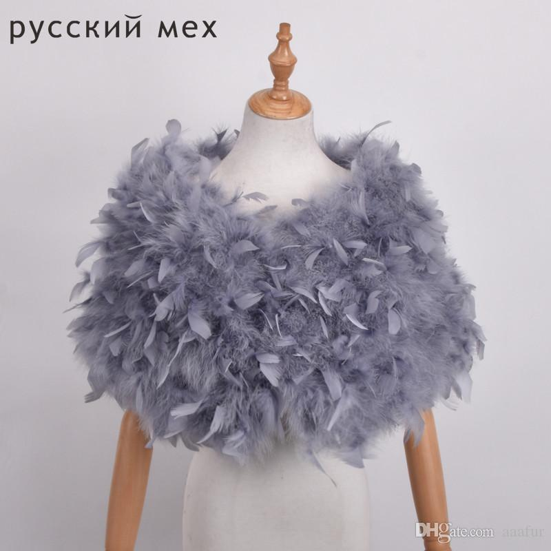 Turquie vraie fourrure Châles naturel fourrure Wraps femmes robe de soirée Besoin d'hiver Mode Châle