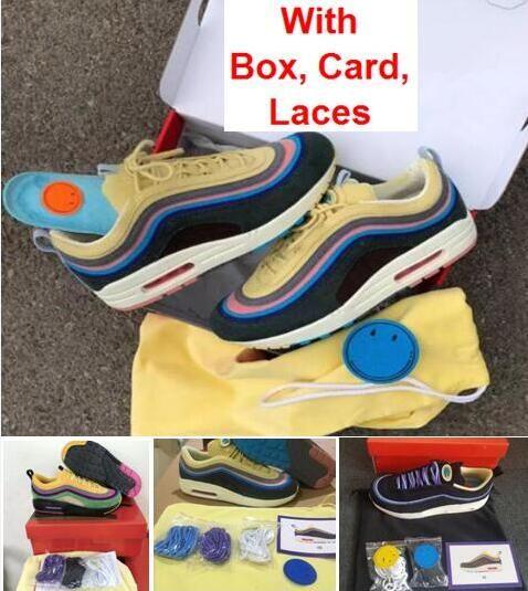 Atacado 97 1 Sean Wotherspoon com caixa TRIPLE BRANCO triplo preto Running Shoes O envio gratuito