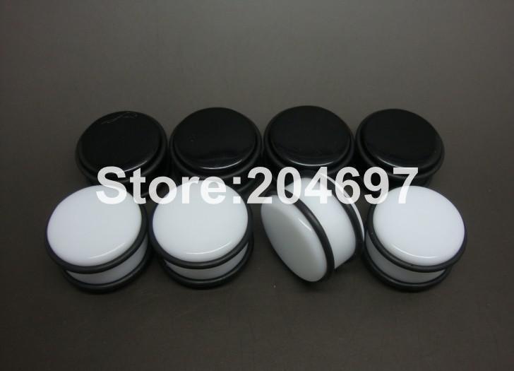 믹스 120pcs 10-20mm 아크릴 스트레이트 귀 플러그 블랙 화이트 육체 터널 더블 O 링 들것 Expander 바디 피어 싱 쥬얼리