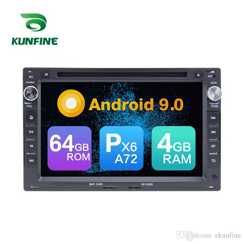 Android 9.0 Núcleo PX6 A72 Ram 4G Rom 64G Carro DVD GPS Multimedia Player Estéreo Do Carro Para VW Passat B5 / Golfe 4 / Polo / Bora / Jetta Rádio Headunit