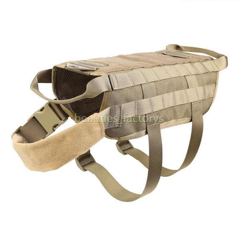 전술 군사 몰리 개 조끼 하네스 애완 동물 의류 재킷 조절 나일론 큰 개 순찰 장비 무료 배송
