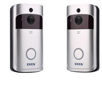 كاميرا 2020 EKEN V5 الذكية فيديو إنترفون الفيديو باب الهاتف جرس الباب WIFI الجرس كاميرا للمنازل IR إنذار لاسلكي الأمن