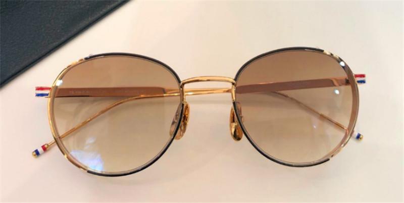 Novo designer de moda óculos de sol 106 rodada retro armação de metal popular em avant-garde qualidade proteção UV400 óculos topo