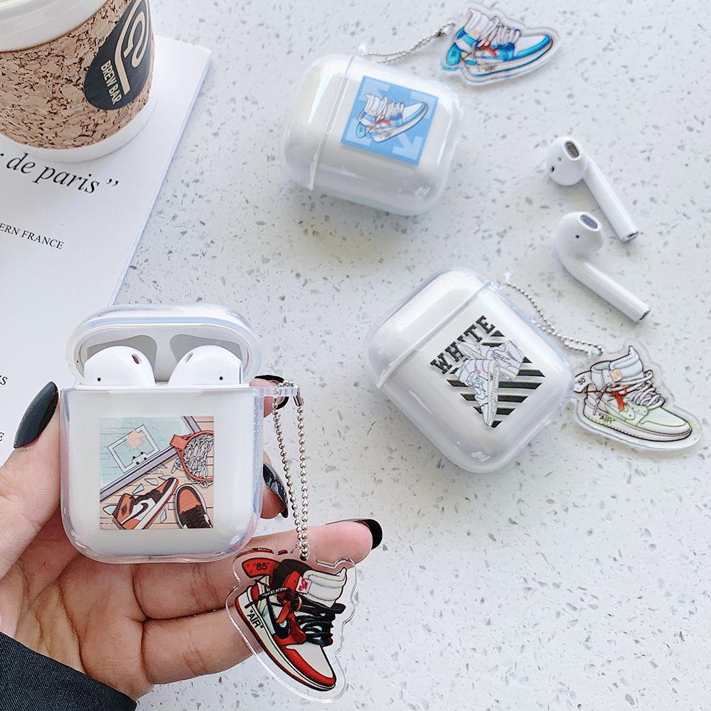 Airpods Fall-weicher Kopfhörer-Abdeckung Mode Schuhe Marke OFF-Schutzhülle Wateproof Stoß- für Apple Airpods 1/2