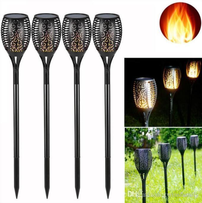 Güneş Torch Lambası LED Güneş Yakıcılar Işıklar Bahçe Açık Alev Yolu Dans Titrek Çim Işık Su geçirmez Landsacpe Dekor 96LED C695