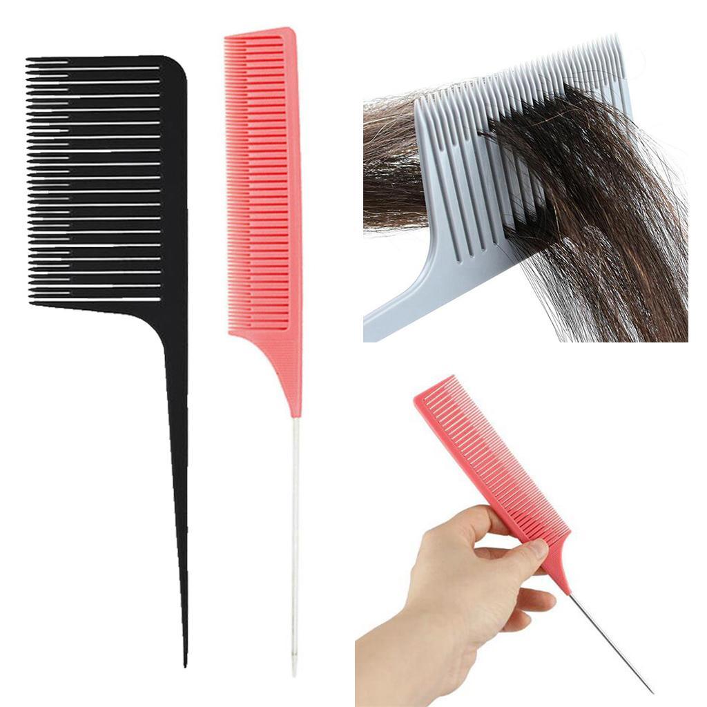 2x ancha de dientes finos Salon Tejiendo Destacar frustrar peina el pelo