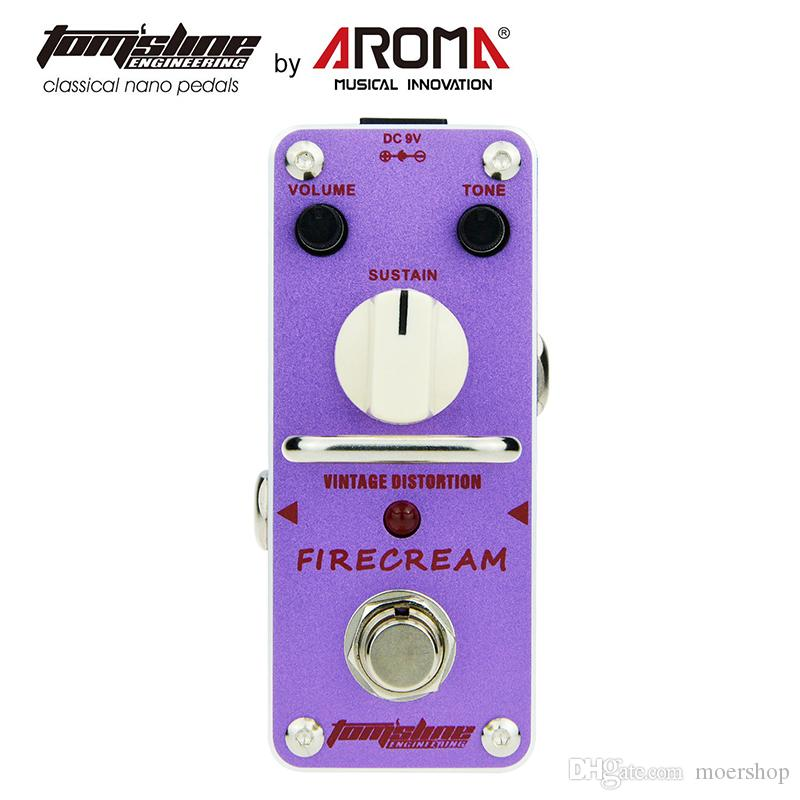 AROMA AFM-3 Vintage Distortion Pedal Guitar Effect Firecream Based On The 1st Version EH Big Muff Pedal Rich and Creamy Fuzz Tone