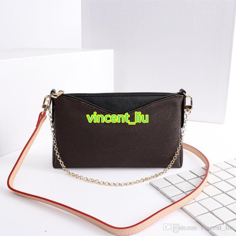Серийный номер внутри натуральной кожи Женщина на плечо сумка сумка для муфсию муфты с мешком для пыли со съемным ремешком