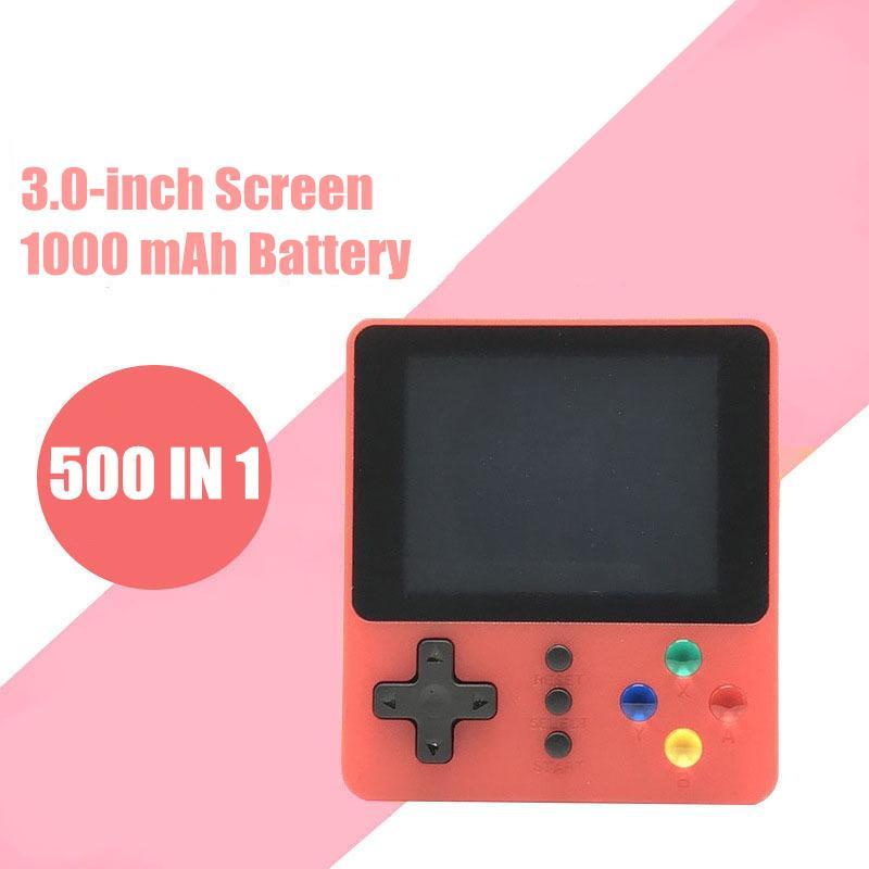 2020 الجديدة K5 Powkiddy ريترو لعبة فيديو وحدة التحكم المحمولة المصغرة المحمولة Pocketgo ألعاب صندوق 500 في 1 ممر FC SUP ألعاب لاعب لعب الأطفال
