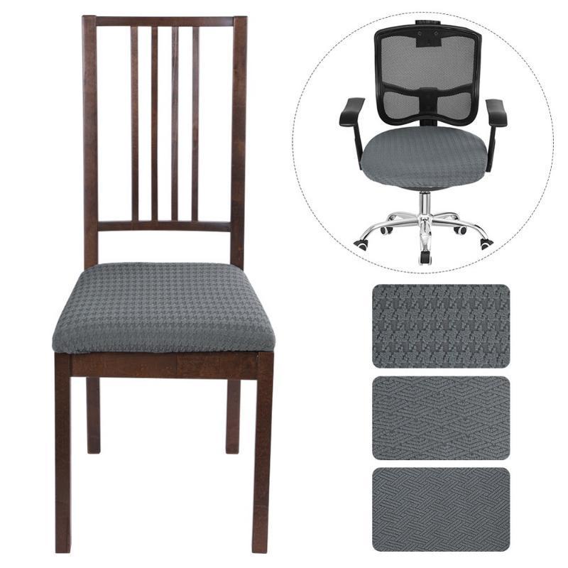 Silla de silla de montar la cubierta del asiento protector cubiertas de cocina estiramiento comedor cubierta de la silla del asiento extraíble elástico Caso Sala de fundas