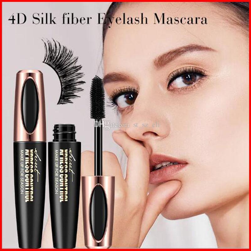 Macfee Brand Eye Makeup 4D Silk Fiber Eye Lashes Makeup Waterproof Silicone Brush Head Mascara Lengthening Thicker Mascara