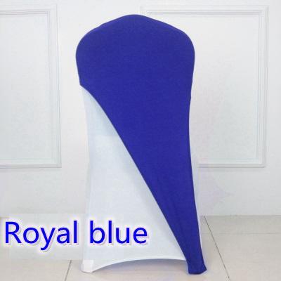 Couleur bleu royal Spandex housse lycra cap moitié couverture mariage fête hôtel banquet décoration stretch chaise élastique