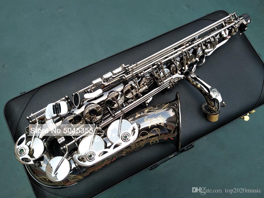 ألمانيا JK SX90R Keilwerth SAX 95٪ نسخ ساكسفون ألتو الأسود النيكل الفضة سبيكة ألتو ساكس النحاس الموسيقية أداة مع حالة لسان حال