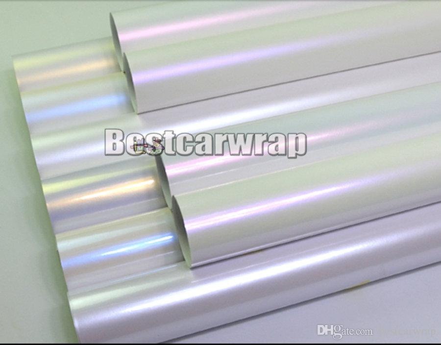 Various Colors Pearl white gloss vinyl Wrap Covering For car wrap Low tack glue 3M quality With Air bubble Free 1.52x20mRoll