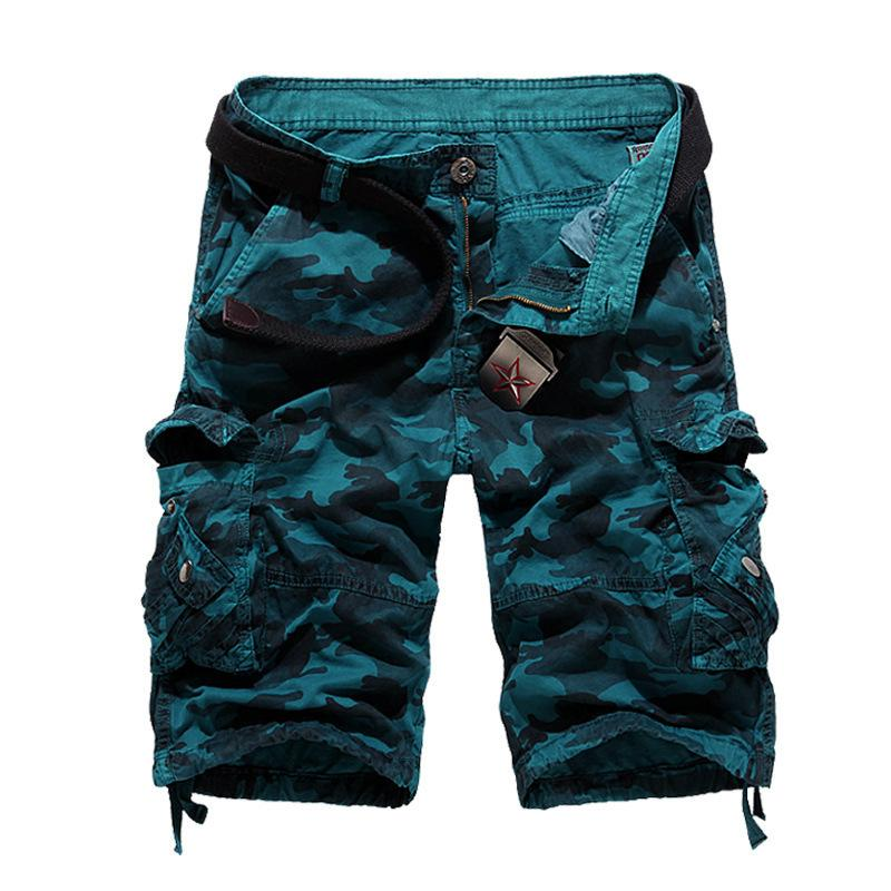 Men's Camouflage Loose Cargo Shorts New Men Cool Fashion Summer Military Camo Short Pants Breathable Homme Cargo Shorts Da024 S19715