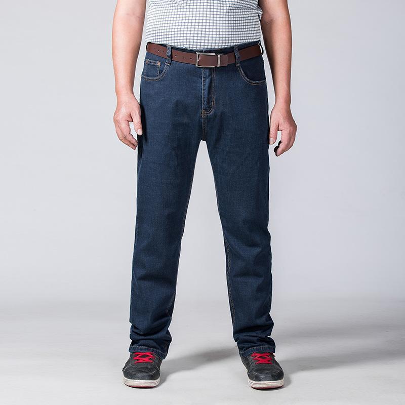 SHABIQI صيف جديد العلامة التجارية الجينز أزياء الرجال عارضة فضفاض الجينز مستقيم تنفس مرونة مريحة السراويل الساق واسعة زائد الحجم