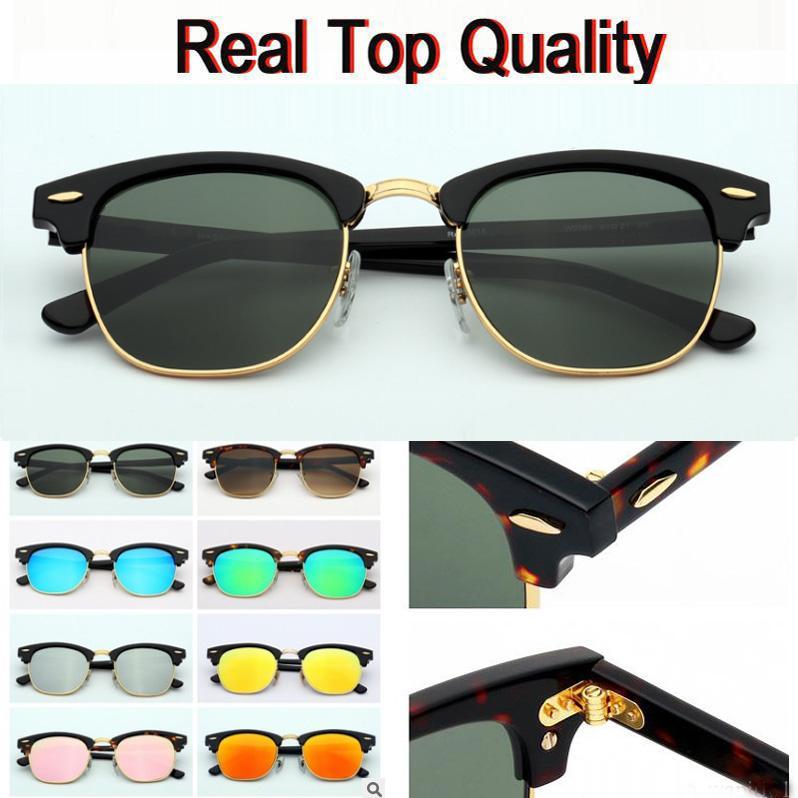 en kaliteli Yeşil Tasarımcı ilham Klasik Yarım Çerçeve Retro Gözlük G15 UV400 Yarı çerçevesiz Womens Moda Güneş gözlükleri boynuzlu 3016 gafas