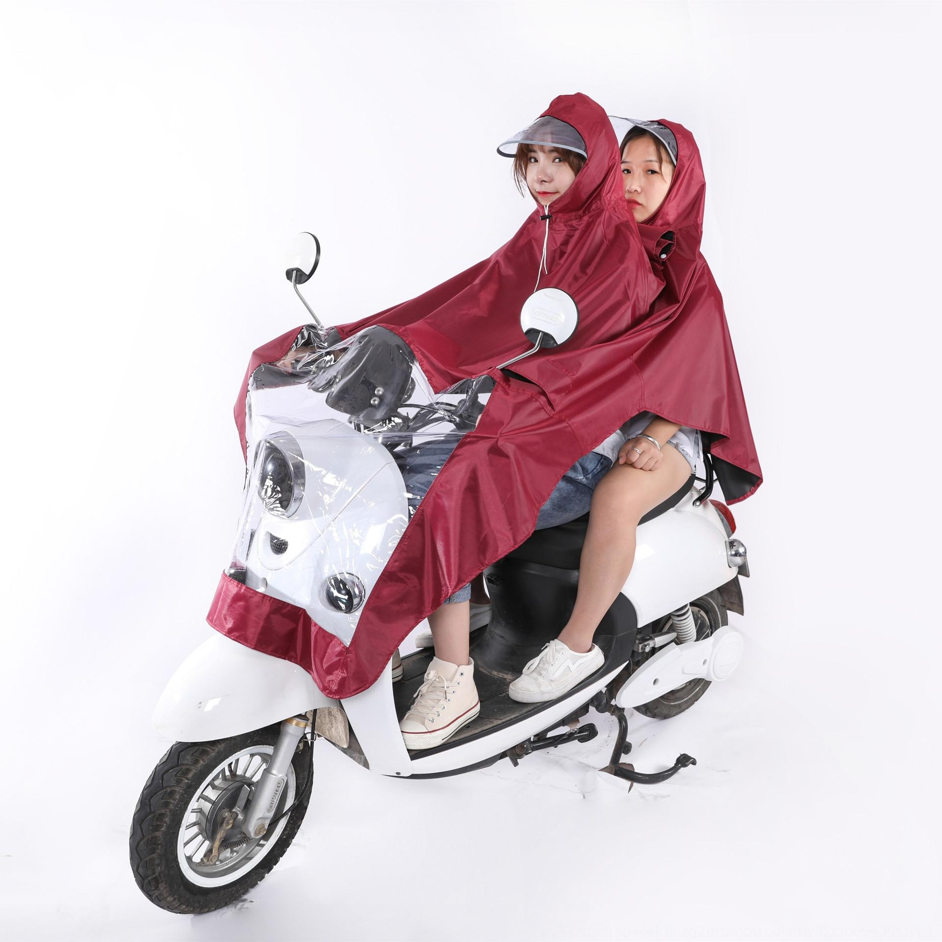 ejDN3 1lruf Elektrikli araba Motosiklet bisiklet araba aküsü yağmurluk motosiklet kadın panço yetişkin erkek ve bisiklet ekstra büyük binme panço