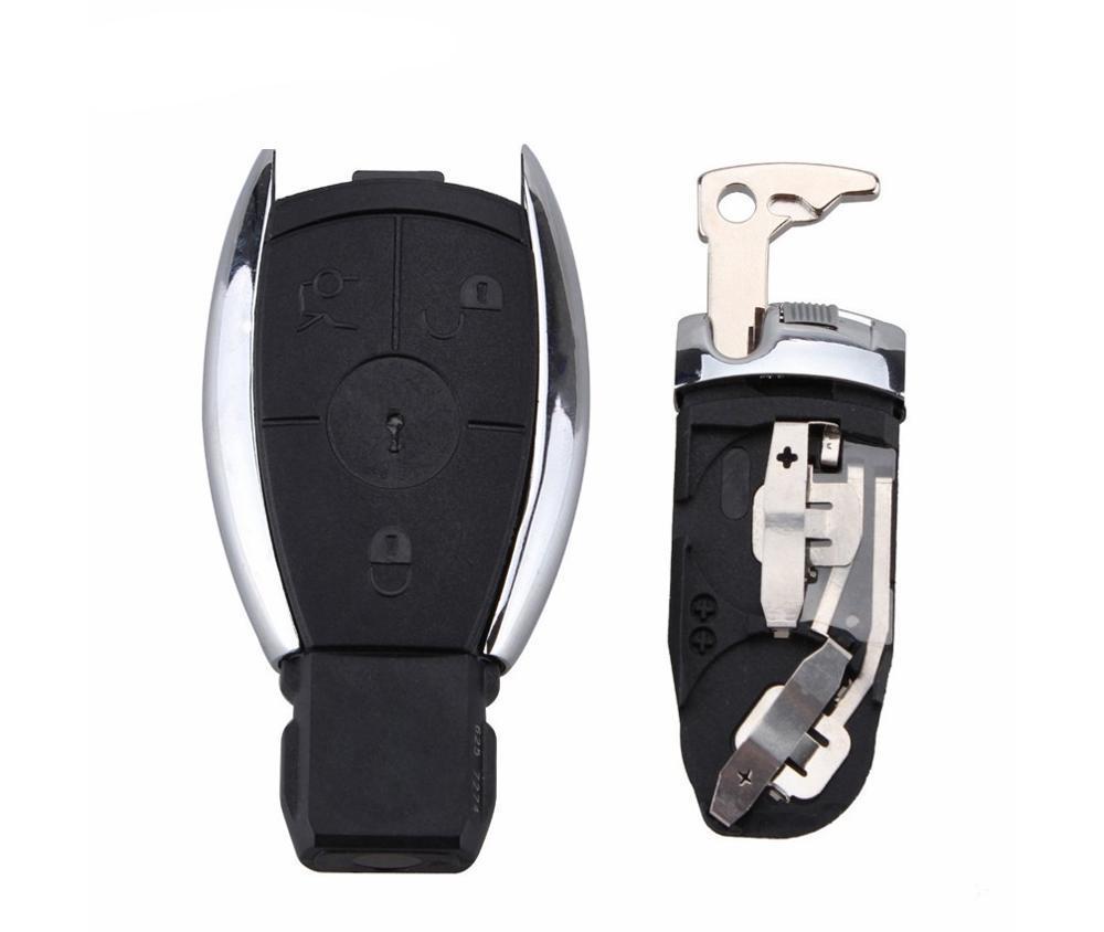 2/3 button Smart Key Case Shell with Battery Clamp Holder for W211 A C E G S R SL ML GML CL GL CLS CLA CLK SLK GLK