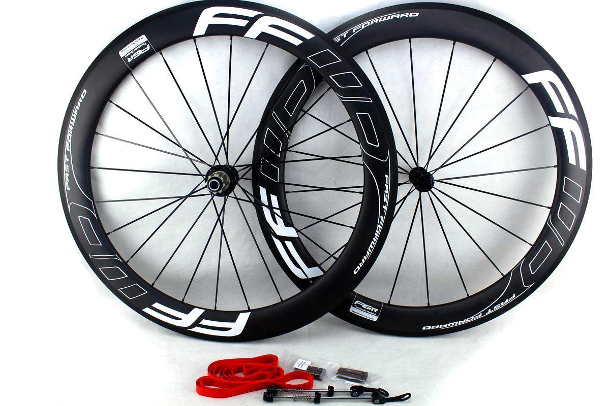 Ffwd سريع إلى الأمام الكربون عجلات الدراجة 60 ملليمتر البازلت سطح الفرامل الفاصلة أنبوبي الطريق دراجة العجلات 700c عرض 25 ملليمتر ud مات