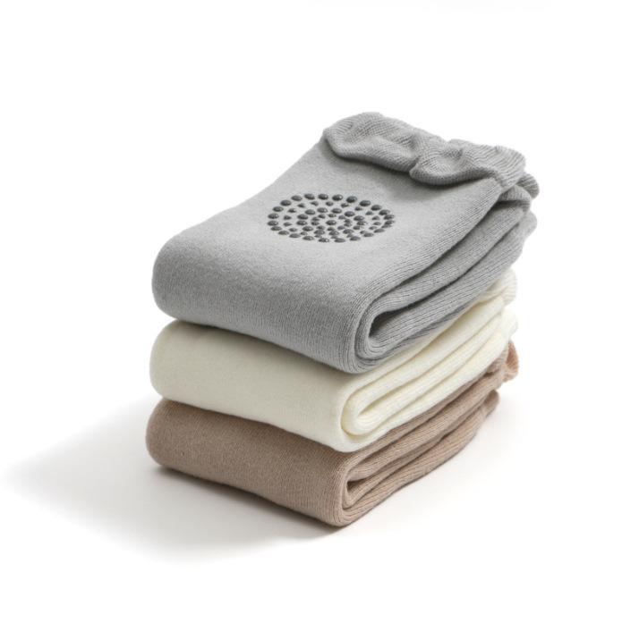 1 paire Coton bébé Jambière Boy Anti-Slip Kid genou WARM Serviette de bébé Sock bébé Sécurité Crawling coude Protecteur