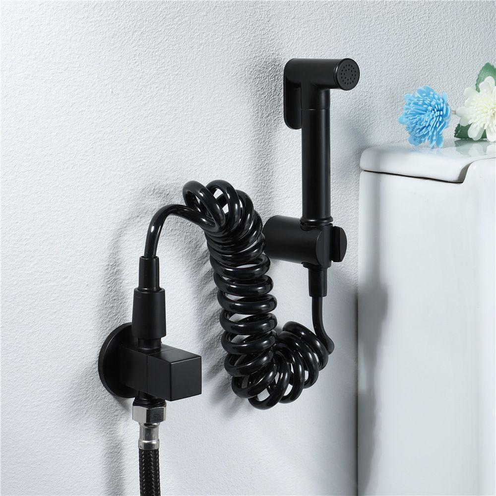 2020 Black Brass Handheld Bidet Spray Cleaning Sprayer Toilet Bidet Faucet Shower Spray With Pvc Hose Shower Holder Toilet Cleaner From Setsail411 53 52 Dhgate Com