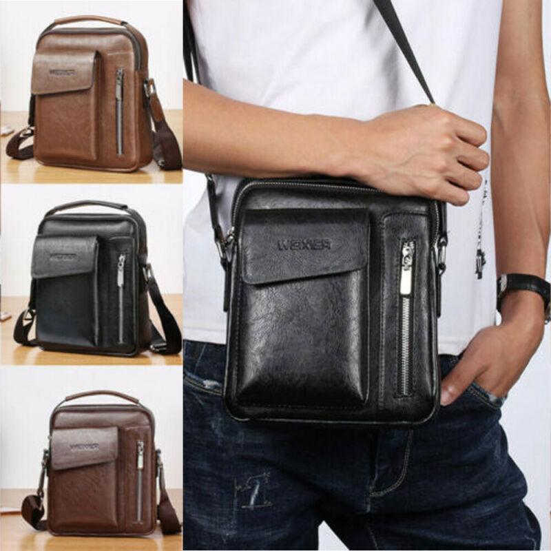 Man Beutel PU-Leder Messenger Bag Herrenmode Umhängetasche Travel Schultertasche