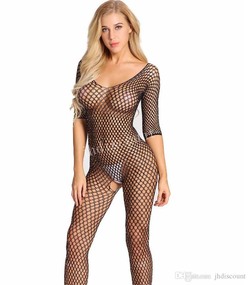 Jhdiscount Demir Sondaj Net Giyim In The Big, Net Cinsel Faiz İç Açık Mesh Vücut Net Çorap Hollowed aşımı