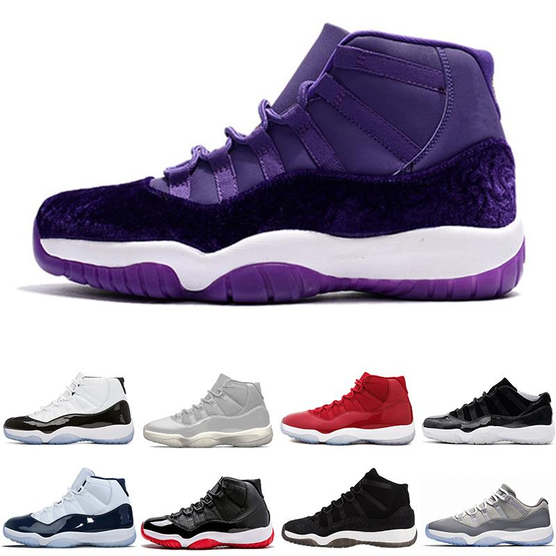 2019 Hot 11 Xi White Red Bred Concord Gamma Blue Legend Basketball Shoes Hight Navy Gum Blue Blue Georgetown Infrared Sneakers