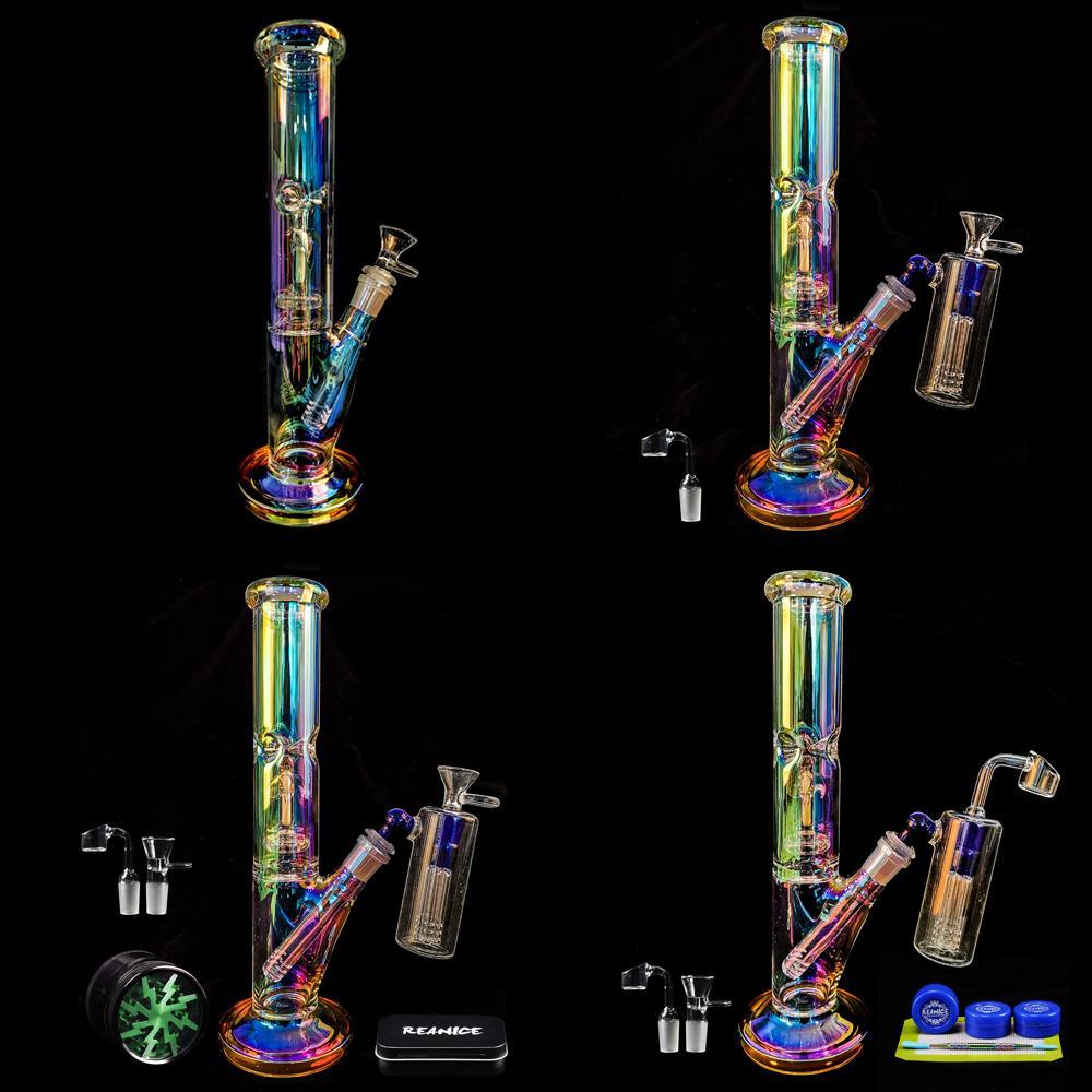 REANICE 14.5mm Glass BONG цвета вода затяжки ручного барботер золоуловитель сот ветвь Dabber буровой установка утилизатор вода соединение трубы барботер