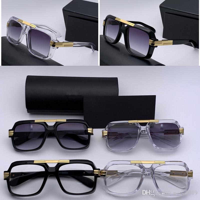 الفاخرة الجديدة النظارات الشمسية الرجال النظارات الشمسية 633 أعلى جودة موقف الذهب إطار تصميم مربع عدسة شفافة مع الدعوى الأصلية