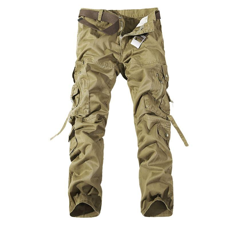 2019 New Men Brand Man Army Camouflage Cargo Pants Plus Size Multi-pocket Overalls Casual Baggy Camouflage Trousers Men