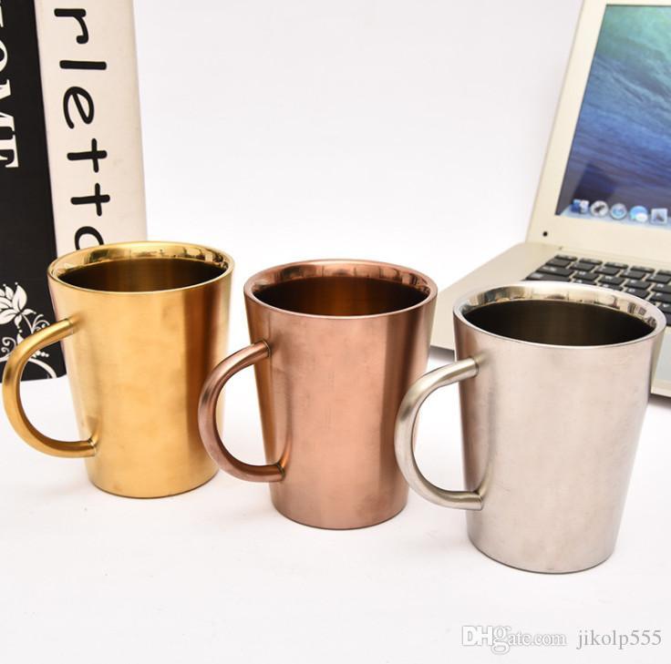أحدث القدح مع مقبض، الإبداعية طبقة مزدوجة القهوة البيرة الزجاج الشرب، العزل الحراري والمواد المنزلية المضادة للسيطرة