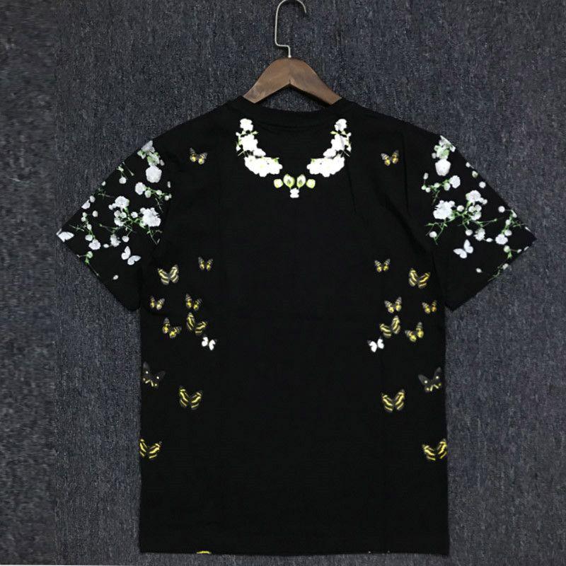 19SS Hommes T-shirt Couple coton Casual manches courtes Fahion été Hommes T-shirts Noir Taille S-2XL