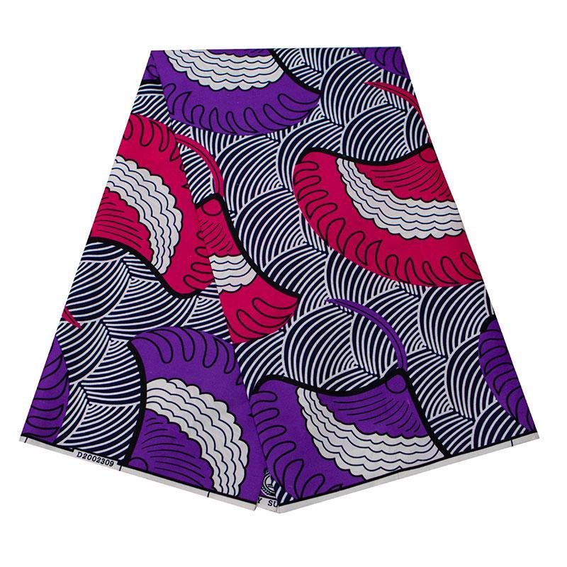 Анкара Африканский полиэстер восковые принты ткань красочный круговой узор высокое качество 6 ярдов Африканская ткань для вечернего платья FP6262