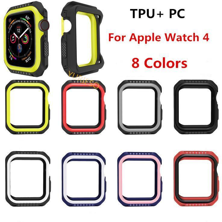Neueste kühlen schützende weiche Tasche für Apple Uhrabdeckung Series 4, für iwatch TPU 40mm 44mm Abdeckung Antishock zurück Fall