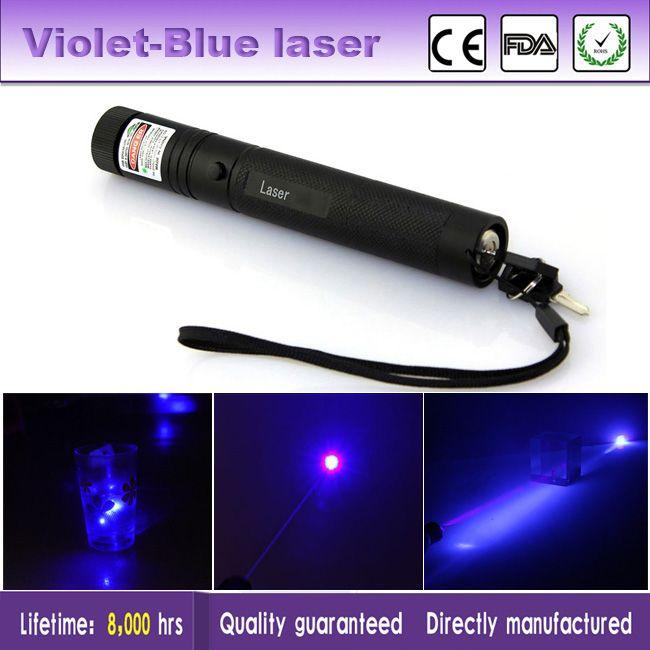 Nuovo di alta qualità 5mW Viola puntatore laser blu penna Lazer Pointer Cat Pet Laser Pointe giocattolo