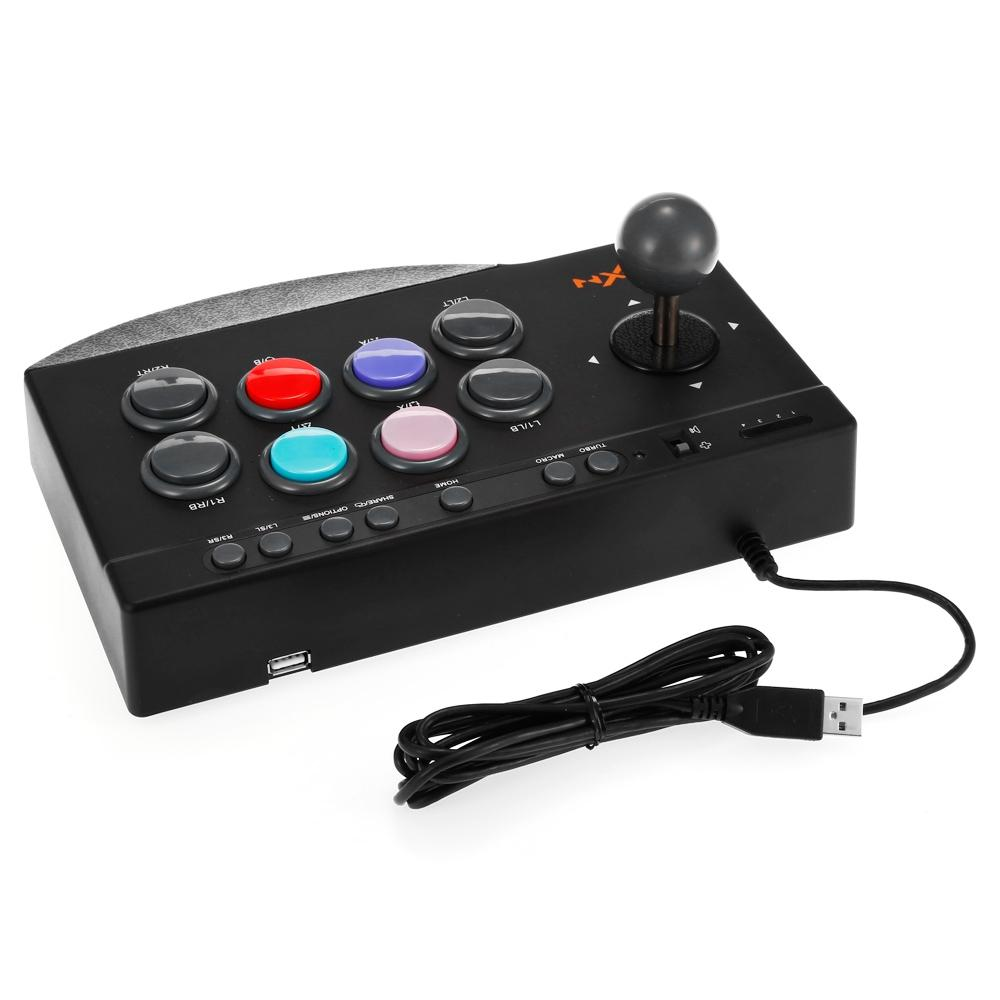 PXN 0082 USB Wired Game Controller Arcade Fighting for PS3 / PS4 / Xbox ein / PC Joystick-Stick Joystick Game Controller PXN-0082
