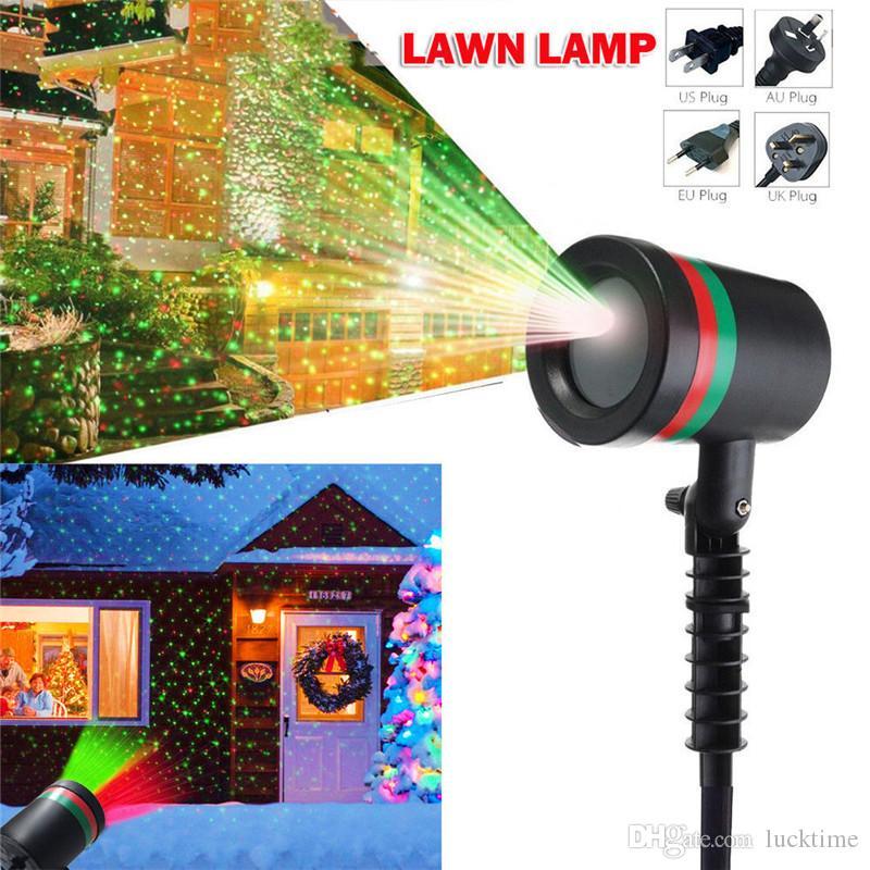 Lámparas de césped de Navidad de las luces laser impermeable al aire libre del LED Luz de la etapa del jardín en movimiento estrella de la luz laser del partido proyector de la decoración del hogar